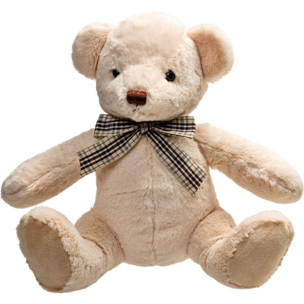 Molly cream plush teddy bear, 26cm.  By Suki